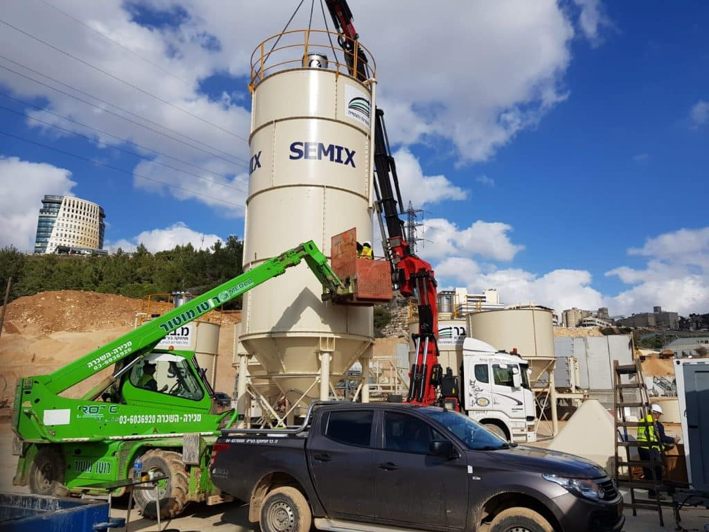Construction of a concrete plant in Jerusalem, Giv'at Shaul